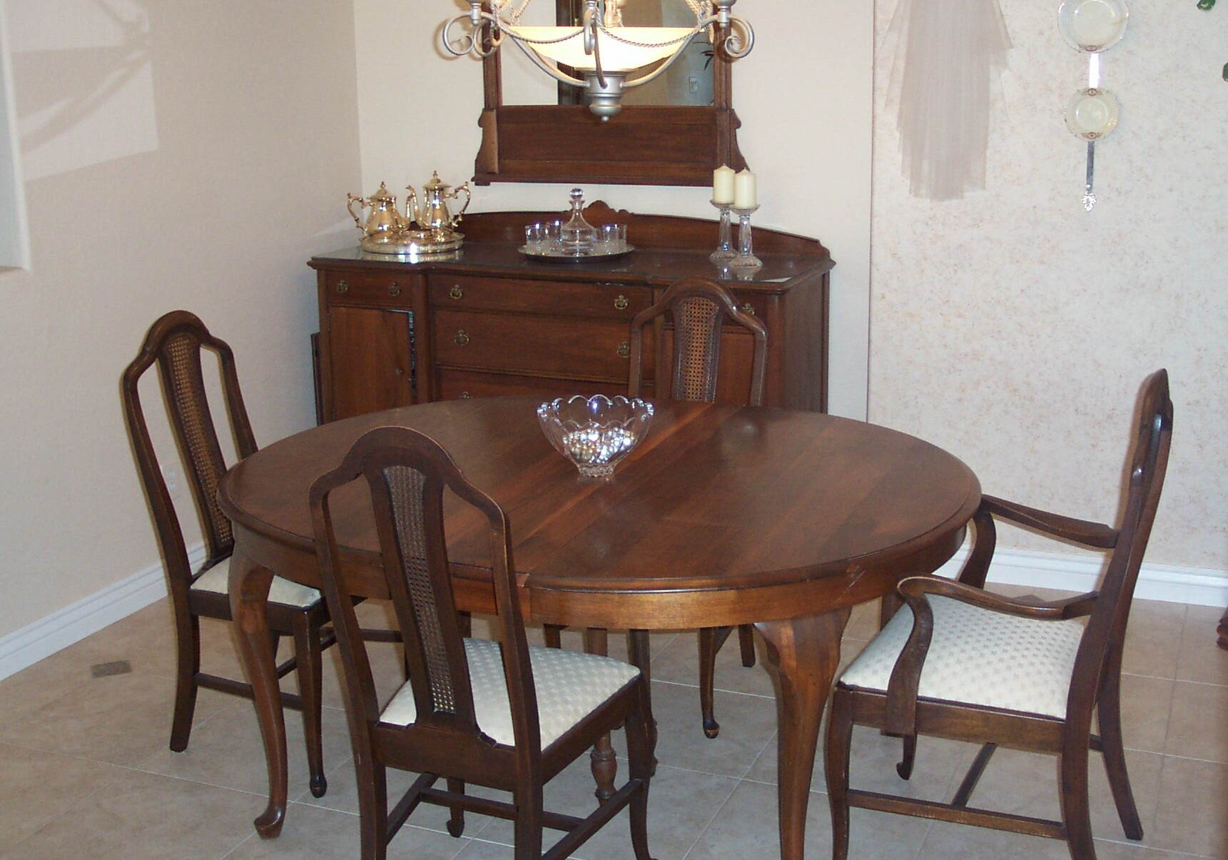 Formal dining set for sale for Pictures of antique dining room sets